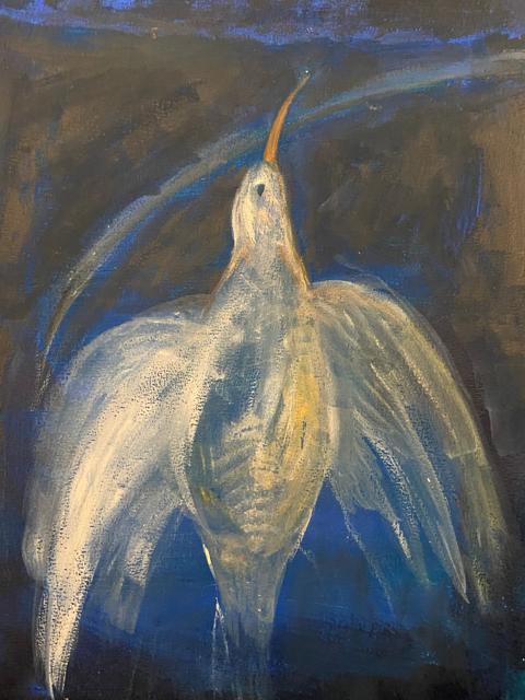 Marika Sarha Kohti korkeuksia maalaus