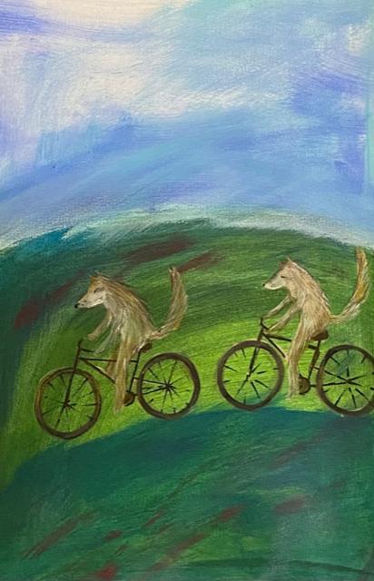 Marika Sarha Pyöräretkellä maalaus