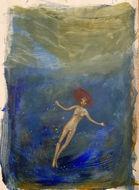 Marika Sarha Pyörteessä maalaus
