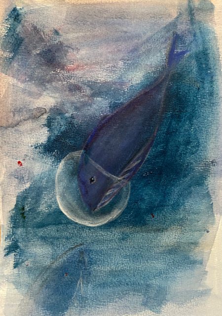 Marika Sarha Sukellusvalas maalaus